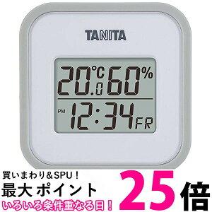 ポイント最大25 タニタ 温湿度計 TT-558 GY 温度 湿度 デジタル 壁掛け 時計付き 卓上 マグネット グレー 送料無料 【SK11521】