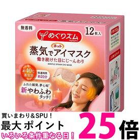 ポイント最大25.5 花王 めぐりズム蒸気でホットアイマスク 無香料 12枚入 【SB04540】