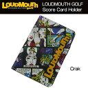 """[クーポン有][日本規格]Loudmouth """"Crak""""Score Card Holder(ラウドマウスクラック スコアカードホルダー) LM-CH0001…"""