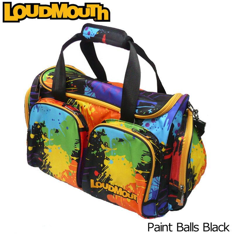 """[クーポン有][日本規格]Loudmouth/ラウドマウス 2016 """"Paint Balls Black"""" ボストンバッグ(シューズインポケット付) LM-BB0002-011 ラウドマウス """"ペイントボールズ ブラック"""" [新品]メンズ/レディース/子供用子ども用こども用[TW10]"""