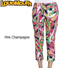 【メール便可250円】【60%off】【日本規格】レディース ラウドマウス カプリパンツ (Pink Champagne ピンクシャンパン) 726204(037) 春夏【新品】 Loudmouth 16SS 七部丈 レディス 女性用 ボトムス