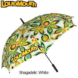 ラウドマウス アンブレラ 直径120cm (Shagadelic White シャガデリック ホワイト) 726114(003)【30%off】【日本規格】【新品】 16SS 16FW Loudmouth 雨傘 日傘 パラソル メンズ レディース