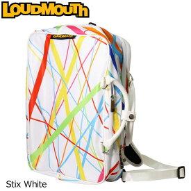 ラウドマウス 3WAY バックパック スティックスホワイト Stix White LM-BP0001/768990(117) 【日本規格】【新品】 18SS Loudmouth ゴルフ用品 メンズ レディース %off【LMSL】