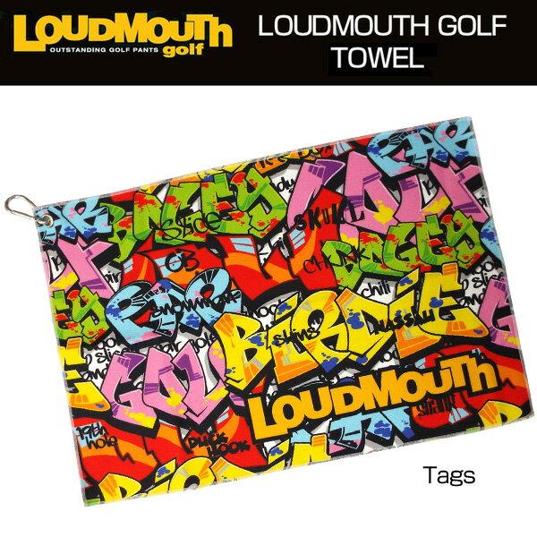 [クーポン有][日本規格]ラウドマウス 2017 タオル フック付き (029)Tags タグス 767917[新品]17SSゴルフ用品ラウンドLoudmouth