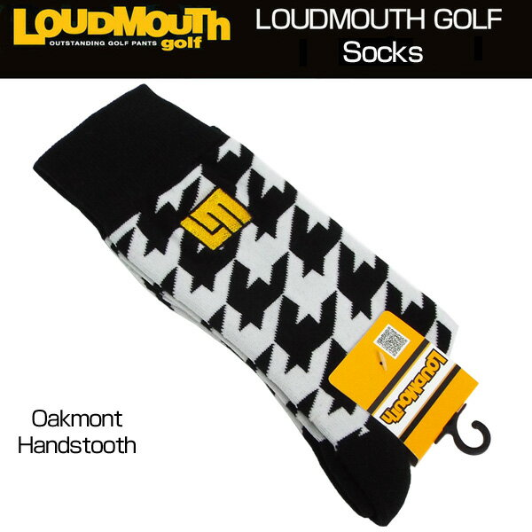 [Newest][日本規格]ラウドマウス 2018 メンズ ソックス (Oakmont Houndstooth オークモント) 768903(002)[新品]18SS Loudmouth 男性用 ゴルフウェア 靴下 LM
