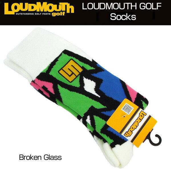 [Newest][日本規格]ラウドマウス 2018 メンズ ソックス (Broken Glass ブロークングラス) 768903(066)[新品]18SS Loudmouth 男性用 ゴルフウェア 靴下 LM