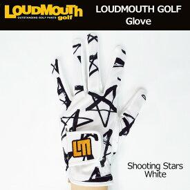 ラウドマウス メンズグローブ (シューティングスターホワイト Shooting Stars White) 768905(118)【日本規格】【新品】18SS Loudmouth 男性用 ゴルフウェア ゴルフグローブ 手袋【メール便可250円】