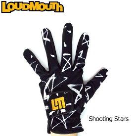 ラウドマウス メンズグローブ (シューティングスター Shooting Stars) 768905(119)【日本規格】【新品】18SS Loudmouth 男性用 ゴルフウェア ゴルフグローブ 手袋【メール便可250円】