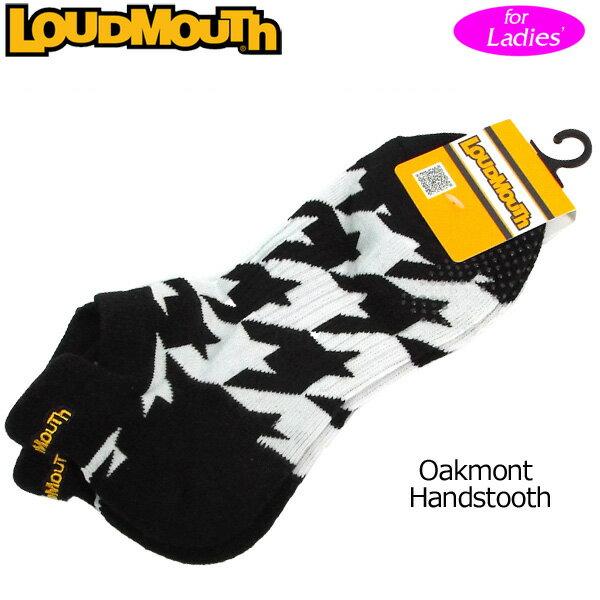 [Newest][日本規格][レディース]ラウドマウス 2018 アンクルソックス (Oakmont Houndstooth オークモント) 768952(002)[新品]18SS Loudmouth レディス 女性用 ゴルフウェア ショートソックス 靴下 アンクル丈 LM