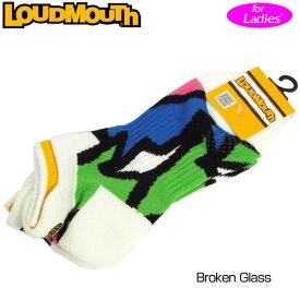 【メール便発送OK】レディース ラウドマウス アンクルソックス (Broken Glass ブロークングラス) 768952(066)【日本規格】【新品】18SS Loudmouth レディス 女性用 ゴルフウェア ショートソックス 靴下 アンクル丈