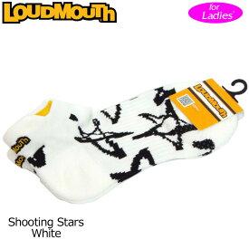 【メール便発送OK】レディース ラウドマウス アンクルソックス (シューティングスターホワイト Shooting Stars White) 768952(118)【日本規格】【新品】18SS Loudmouth レディス 女性用 ゴルフウェア ショートソックス 靴下 アンクル丈