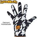【メール便可250円】ラウドマウス 2019 メンズ ゴルフグローブ Oakmont Houndstooth オークモント 769906(002) 左手用【Revival】【日本規格】【新品】19SS Loudmouth 手袋