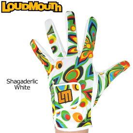 【メール便可250円】ラウドマウス 2019 メンズ ゴルフグローブ ShagadelicWhite シャガデリック ホワイト 769906(003) 左手用【Revival】【Newest】【日本規格】【新品】19SS Loudmouth 手袋