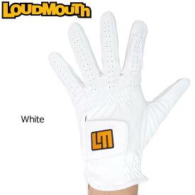【メール便可250円】ラウドマウス 2019 メンズ ゴルフグローブ White ホワイト 769907(999) 左手用【Newest】【日本規格】【新品】19SS Loudmouth 手袋