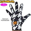 【メール便発送】ラウドマウス レディース ゴルフグローブ Oakmont Houndstooth オークモント 769958(002) 左手用【Revival】【日本規格】【新品】19SS Loudmouth 手袋