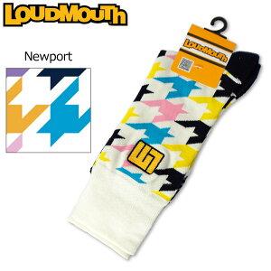 【メール便発送】ラウドマウス メンズ クルー ソックス 靴下 Newport ニューポート 778901(121) 【日本規格】【新品】18FW Loudmouth ゴルフウェア JAN1 JAN2 %off