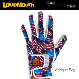 ラウドマウス メンズグローブ (アンティークフラッグ Antique Flag) 778902(158)【日本規格】【新品】18FW Loudmouth 男性用 ゴルフウェア ゴルフグローブ 手袋【メール便可250円】