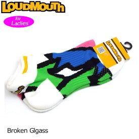 【メール便発送OK】レディース ラウドマウス アンクルソックス (Broken Glass ブロークングラス) 778953(066)【日本規格】【新品】18FW Loudmouth ゴルフウェア ショートソックス 靴下 アンクル丈