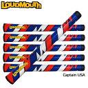 """[クーポン有]ラウドマウス ウッド・アイアン用グリップ キャプテンUSA Loudmouth Swing Grip """"Captain USA""""[新品]Loudm..."""