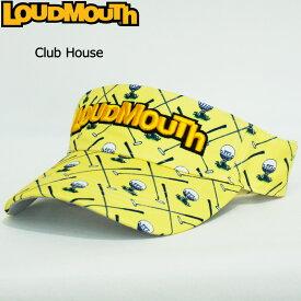 【日本規格】ラウドマウス 2020 バイザー Clubhouse クラブハウス 760901(253)【新品】20SS Loudmouth サンバイザー 帽子 メンズ レディース 派手 派手な 柄 目立つ 個性的 MAR2