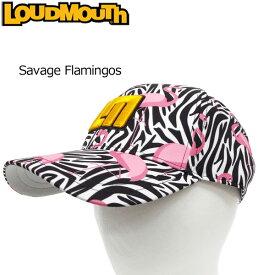 ラウドマウス メンズ キャップ (Savage Flamingos サベージフラミンゴス) 777925(102) 【40%off】【日本規格】【新品】 17FW Loudmouth ゴルフウェア 帽子 メンズ レディース