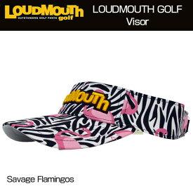 ラウドマウス バイザー ロゴ刺繍 (Savage Flamingos サベージフラミンゴス) 777926(102) 【40%off】【日本規格】【新品】 17FW Loudmouth ゴルフウェア 帽子 メンズ レディース サンバイザー