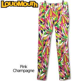 ラウドマウス メンズ ロングパンツ (Pink Champagne ピンクシャンパン) 767303(037) 春夏【42%off】【日本規格】【新品】 17SS Loudmouth 男性用 ゴルフウェア ボトムス派手 派手な 柄 目立つ 個性的