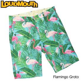 【メール便可250円】ラウドマウス 2019 メンズ ショートパンツ Flamingo Grotto フラミンゴ グロット 769313(185)【30%off】【日本規格】【新品】19SS Loudmouth ゴルフウェア ボトムス ハーフパンツ 男性用 紳士用 派手 派手な 柄 目立つ 個性的