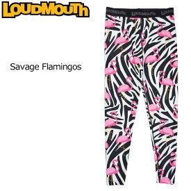 【メール便可250円】ラウドマウス 2019 メンズ ロングスパッツ (Savage Flamingos サベージフラミンゴス) 769903(102) フィットネス ヨガ 【Newest】【日本規格】【新品】19SS Loudmouth ゴルフウェア 男性用 ボトムス 派手 派手な 柄 目立つ 個性的