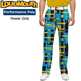 【インポートSale】ラウドマウス メンズ ロングパンツ スリムカット (Power Grid パワーグリッド) 778329(171)【新品】18FW ゴルフウェアボトムス Loudmouth Pants Slim Cut 派手 派手な 柄 目立つ 個性的 %off