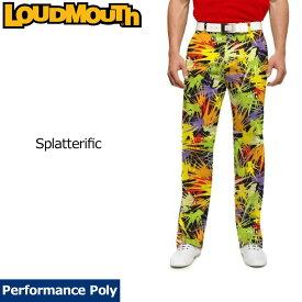 【インポートSale】ラウドマウス メンズ ロングパンツ スリムカット (Splatterific スプラッタリフィック) 778329(170)【新品】18FW ゴルフウェアボトムス Loudmouth Pants Slim Cut 派手 派手な 柄 目立つ 個性的 %off