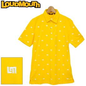 【メール便発送】ラウドマウス メンズ 半袖 ポロシャツ 吸水速乾 UVカット イエロー 760608(993) 【日本規格】 春夏【新品】20SS Loudmouth トップス %off