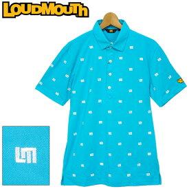【メール便発送】ラウドマウス メンズ 半袖 ポロシャツ 吸水速乾 UVカット ライトブルー 760608(996) 春夏 【日本規格】【新品】20SS Loudmouth トップス %off