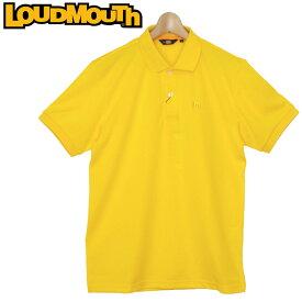 【メール便発送】ラウドマウス メンズ エッセンシャルシャツ カノコ 半袖ポロシャツ (イエロー Yellow) 769601(993) 春夏【Newest】【日本規格】【新品】19SS ゴルフウェア トップス Loudmouth 無地 派手 派手な 柄 目立つ 個性的