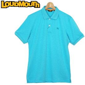 【メール便可250円】ラウドマウス 2019 メンズ エッセンシャルシャツ カノコ 半袖ポロシャツ (Light Blue ライト ブルー) 769601(996) 春夏【Newest】【日本規格】【新品】19SS ゴルフウェア トップス Loudmouth 無地 派手 派手な 柄 目立つ 個性的