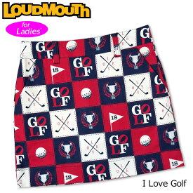 【メール便発送】ラウドマウス スカート インナー付き I Love Golf アイラブゴルフ 760357(251) 【日本規格】【新品】20SS Loudmouth レディース スコート %off