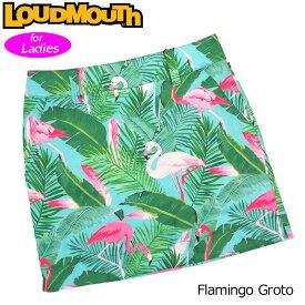 【メール便可250円】レディース ラウドマウス 2019 スコート/スカート Flamingo Grotto フラミンゴ グロット 769366(185) 【30%off】【日本規格】【新品】 19SS Loudmouth 春夏秋 ゴルフウェア ボトムス 派手 な
