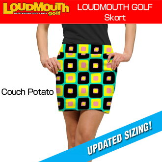 "[Sale][女士]Loudmouth Skort""Couch Potato""(raudomaususukoto""kauchipoteto"")[新货]女士女性高尔夫球服装裙子底"