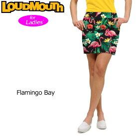 【インポートSale】【メール便発送】レディース ラウドマウス スコート (Flamingo Bay フラミンゴベイ) 768395(132)【新品】18SS スカートゴルフウェア女性用レディスボトムスLoudmouth Skort 派手 派手な 柄 目立つ 個性的 %off