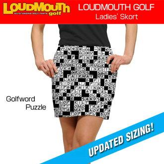 """多嘴的人 Skort""""Golfword 之谜""""(多嘴多舌裙高尔夫字谜) 女士妇女 golfweascatbottoms"""