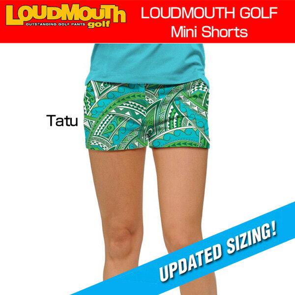 """[クーポン有][35%off][レディース]Loudmouth Mini Shorts """"Tatu"""" (ラウドマウス ホットパンツ/ミニパンツ """"タトゥー"""")[新品]Loudmouthレディス女性ショートパンツゴルフウェアボトムス"""