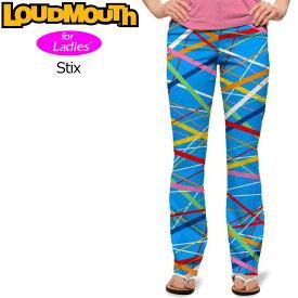 【インポートSale】レディース ラウドマウス ロングパンツ ジーンズカット (Stix スティックス) 767380(096)【新品】 17SS Loudmouth ゴルフウェア レディス 女性用 Long Pants Jeans Cut派手 派手な 柄 目立つ 個性的 %off