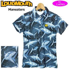 【メール便発送】ラウドマウス レディース 半袖 ポロシャツ 吸水速乾 UVカット Maneaters マンイーター 760658(244) 【日本規格】【新品】20SS Loudmouth ゴルフウェア %off