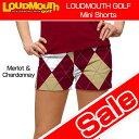 """[Sale][レディース]Loudmouth Mini Shorts """"Merlot & Chardonnay"""" (ラウドマウス ホットパンツ/ミニパンツ) メ..."""