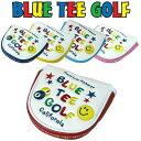 ブルーティーゴルフ スマイル&ピンボール パターカバー(マレット型)【新品】Blue Tee Golf California ヘッドカバー …