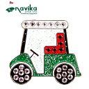 【メール便可250円】Navika 2019 ナビカ クリスタル クリップマーカー #117 Golf Cart キラキラ【新品】19SS ボールマ…