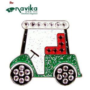 【メール便発送】Navika ナビカ クリスタル クリップマーカー #117 Golf Cart キラキラ【新品】19SS ボールマーカー 車 カート ゴルフ用品 小物 女性用 レディース