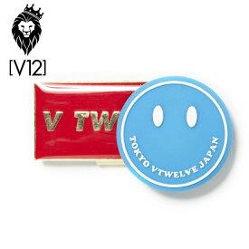 【メール便可250円】V12 ゴルフ ヴィ・トゥエルヴ SMILE MARKER スマイル マーカー V TWELVEロゴ クリップマーカー V121820-AC03 75/ブルー【新品】18SS ボールマーカー ゴルフラウンド小物マグネット式マーカー