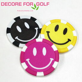 DECORE FOR GOLF カジノチップ スマイル マーカー 3枚セット SMLKC 【新品】20SS デコレフォーゴルフ