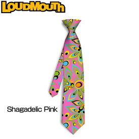 """Loudmouth """"Shagadelic Pink"""" Silk Tie(ラウドマウス シルクネクタイ) シャガデリック ピンク 【新品】ゴルフウェアメンズ"""